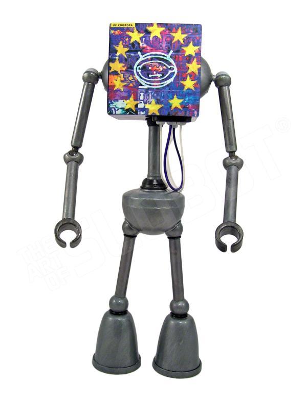 U2 robot mike slobot toy art gallery music
