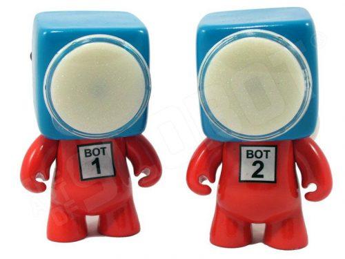 slobot robot sculpture dr suess bot 1 bot 2 thing 1 thing 2 font view