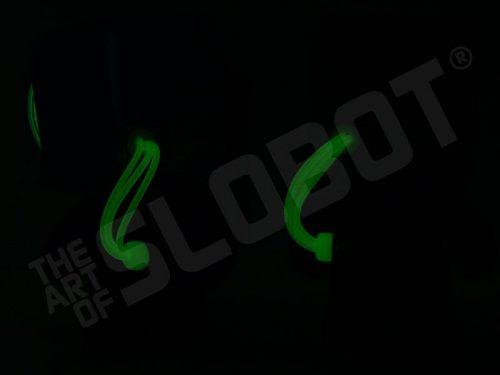 dr suess bot 1 bot 2 thing 1 thing 2 at night glow in the dark robot