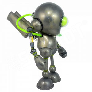 Mike Slobot Kidrobot Glow in the Dark Munny Robot 03 Side View Art Without Borders 2 Art Whino Washington DC