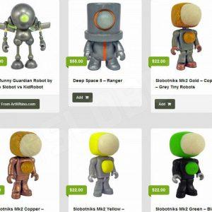 mike slobot robot art sculptures pop science fiction slobots