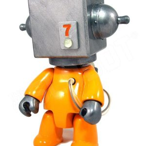 Mike Slobot 7 - Sentinel Class Space Exploration Robot Yellow Silver Qee front