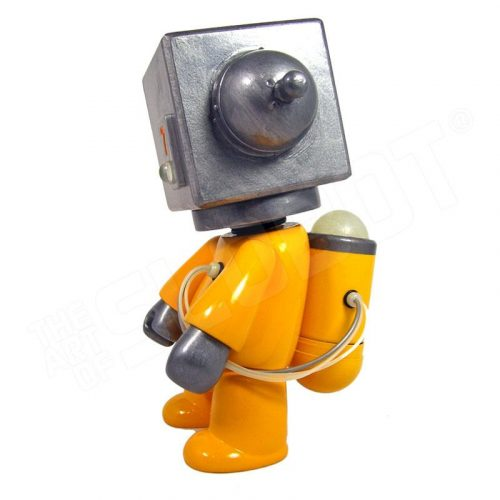 Mike Slobot 7 - Sentinel Class Space Exploration Robot Yellow Silver Qee left side
