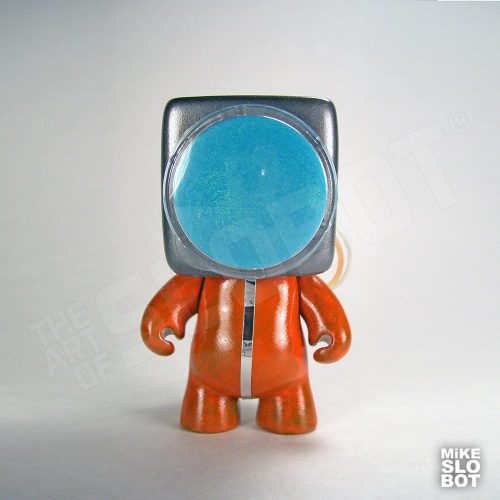 Mike Slobot A19 Fleet Mechanics Robot Repair Team Front View space age orange grey