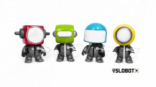 Mike Slobot Anakin Anakinbots Group Shot limited edition robot sculptures