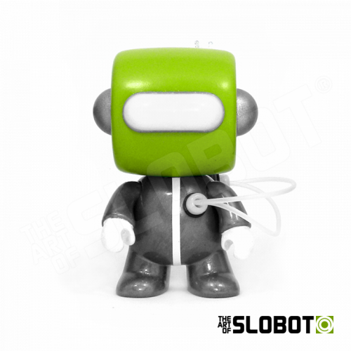 Mike Slobot Anakin Anakinbots Group Shot limited edition robot sculptures Emergency Broadcast System