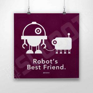 Robot's Best Friend is an art print by Robot Artist Mike Slobot