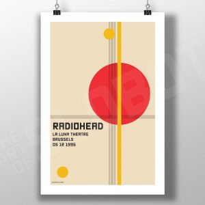 Mike Slobot Music inspired bauhaus art for Radiohead Live in Brussels Belgium 1995 on clips