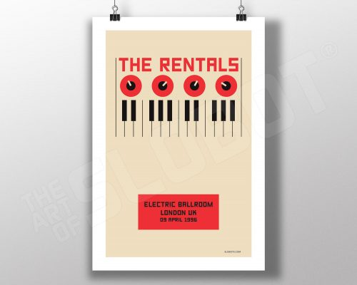 Print Inspired by The Rentals Live in London 1996 Mike Slobot Minimalist Bauhaus Art