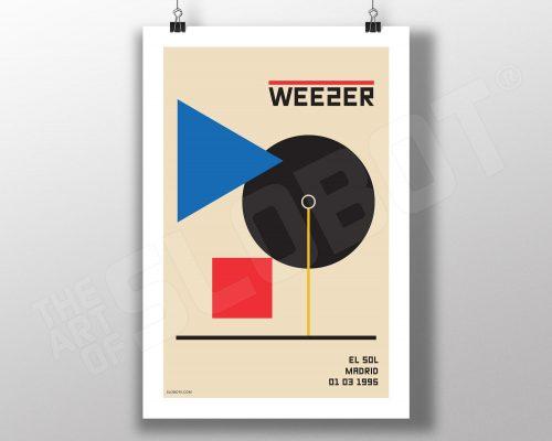 Weezer Live Madrid 1996 alternative gig poster