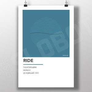 Mike Slobot Music Inspired Art for Ride Live in Munich 1991 Shoegaze