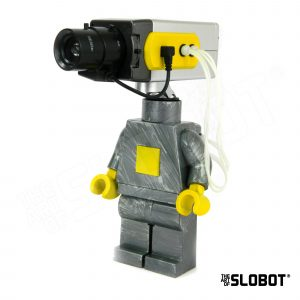 Mike Slobot Secure 5 Large Lego Minifig with a Faux Security Camera for a Head
