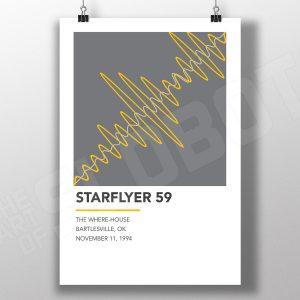 Mike Slobot Starflyer 59 inspired alternative gig poster 1994 bartlesville ok