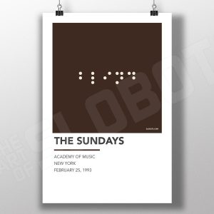 Mike Slobot Alternative Gig Poster inspired by the Sundays Live at the Academy of Music NYC 1993