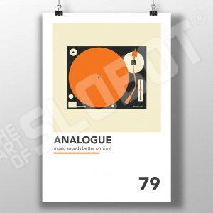 Mike Slobot Viniyl Record Turntable Analogue Art Print