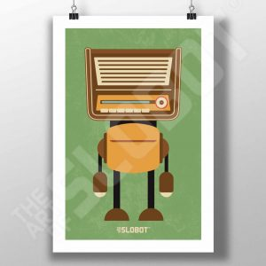 Mike Slobot Mid-Century MCM Radio Robot #1