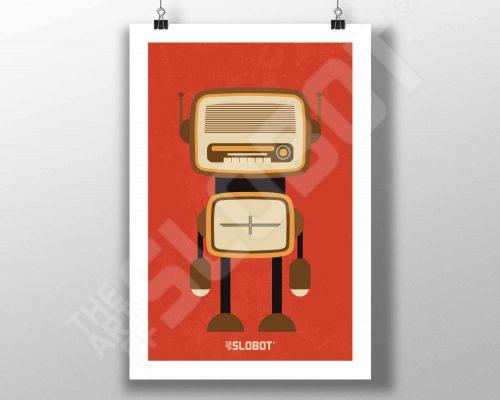 Mike Slobot Mid-Century MCM Radio Robot #4