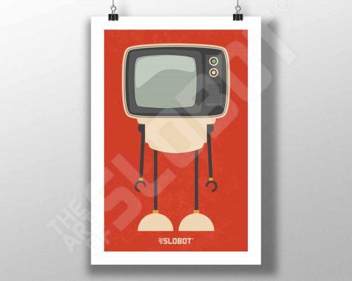 Mike Slobot Mid Century TV Robot #3 MCM Television