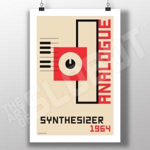 Mike Slobot Analogue Synthesizer Bauhaus Art Print