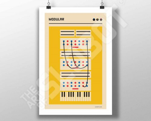 Mike Slobot Bauhaus Modular Synth Art Print