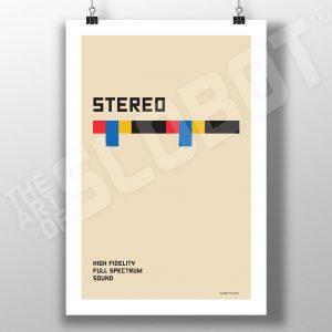 Mike Slobot Stereo Bauhaus Inspired Art Print