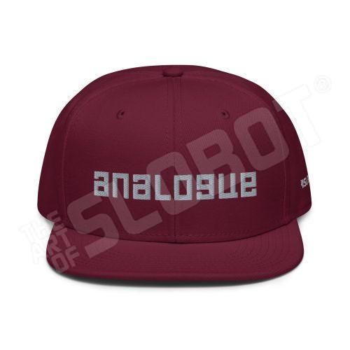 Mike Slobot Analogue Hat in Burgundy Maroon