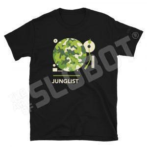 Mike Slobot Junglist Shirt in Black Drum and Bass DNB Ragga Rave raver DJ