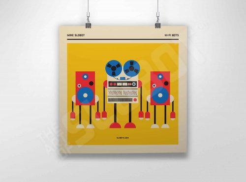 Mike Slobot The Hi-Fi Bots fine art giclee robot art print