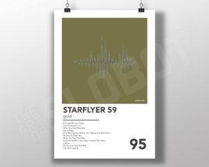 Mike Slobot SF59 Gold Minimal Poster