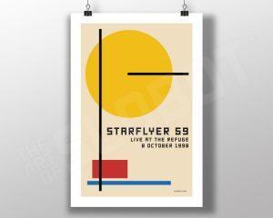 Mike Slobot Starflyer 59 Bauhaus Live At the Refuge Poster