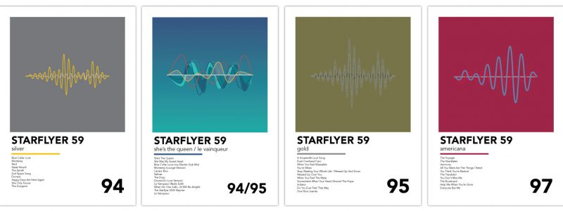 Mike Slobot Starlyfer 59 Posters - The trifecta plus 1
