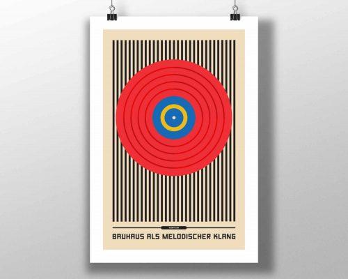Mike Slobot - Bauhaus Vinyl Record Art Print
