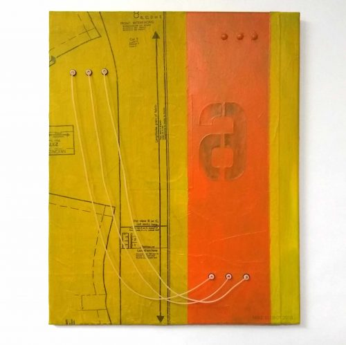 Mike Slobot - Panel 6 Mixed Media Acrylic Objects on Canvas