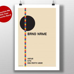 """Mike Slobot Custom Bauhaus Poster """"Black Circle"""""""