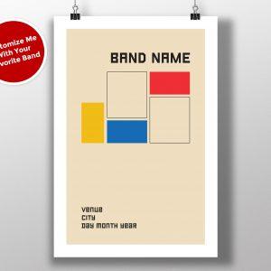 """Mike Slobot Custom Bauhaus Poster """"Blocks"""""""