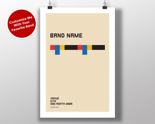 "Mike Slobot Custom Bauhaus Poster ""Color Bar"""