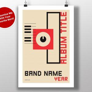 "Mike Slobot Custom Bauhaus Poster ""Rectangle"""