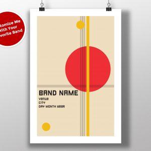 """Mike Slobot Custom Bauhaus Poster """"Red Circle"""""""