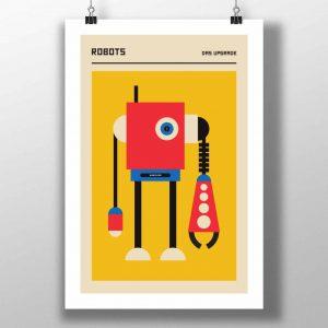 """Mike Slobot """"Das Upgrade"""" Bauhaus inspired Robot Art"""