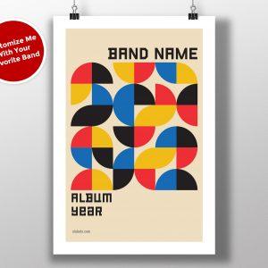 "Mike Slobot Custom Bauhaus Poster ""Shapes"""