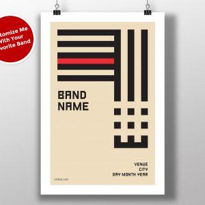 "Bauhaus Art - ""Stripes"" Custom Band Live Gig Alternative Poster"