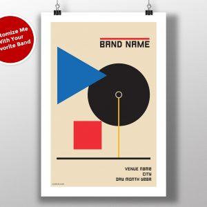 "Mike Slobot Custom Bauhaus Poster ""Blue Triangle"""