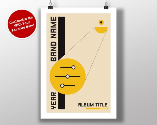"Mike Slobot Custom Bauhaus Poster ""Yellow Controls"""
