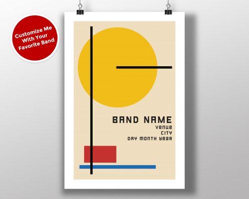 """Mike Slobot Custom Bauhaus Poster """"Yellow Circle"""""""